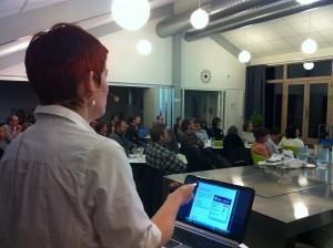 Abelone Glahn underviser i LinkedIn og sammenhængen til blogs