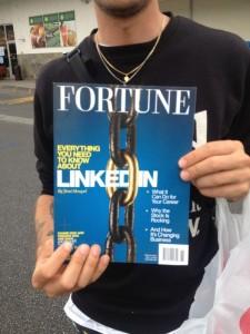 Fortunes julinummer skriver om LinkedIn