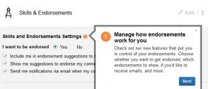 Jubi, Endorsements er ændret på LinkedIn