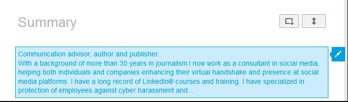 Lær at bruge LinkedIn 6: Beskriv dig kort og godt i Summaryet