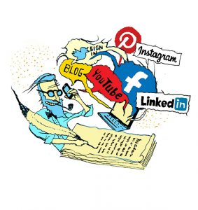 Forfatterguide til sociale medier